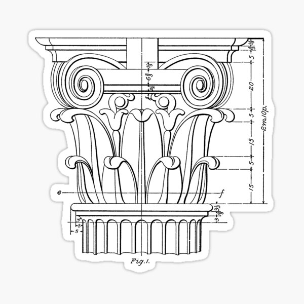 architectural column Sticker