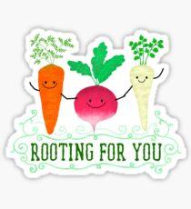 Rooting für dich - Punny Garden Sticker
