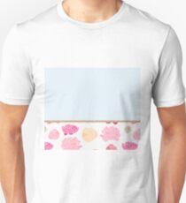 Duck egg blue peony T-Shirt