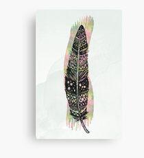 Watercolor feather ap088 Canvas Print