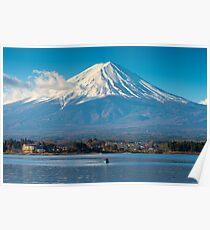 Mount Fuji Fischerboot Poster