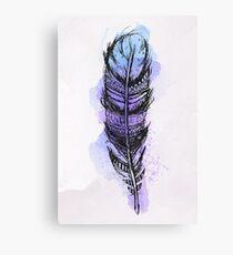 Watercolor feather AP089 Canvas Print