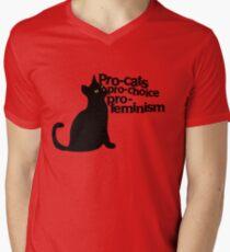 Pro-cats Pro-choice Pro-feminism Men's V-Neck T-Shirt