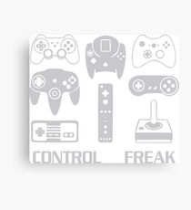 Funny Video Game Control Freak Canvas Print