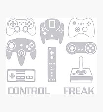 Funny Video Game Control Freak Photographic Print