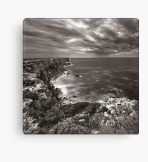 Land, sea, sky - The Bunda Cliffs Canvas Print