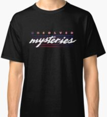 Unsolved Mysteries - Retro Aesthetic Logo Classic T-Shirt