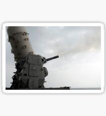 A close-in weapons system is fired aboard USS Makin Island. Sticker