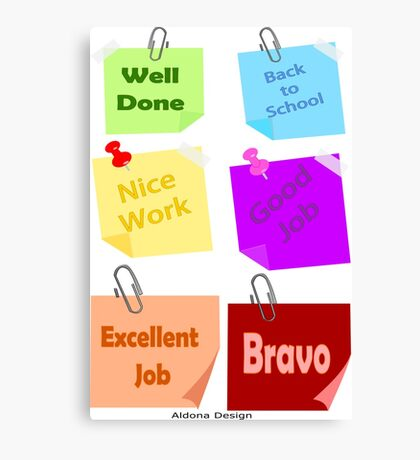 Back to school & Teachers Stickers Canvas Print