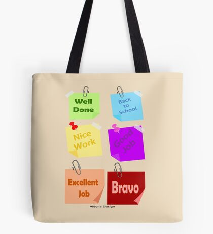 Back to school & Teachers Stickers Tote Bag