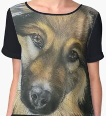 Dog Portrait Chiffon Top