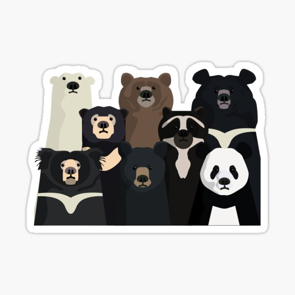 Bears of the world Sticker