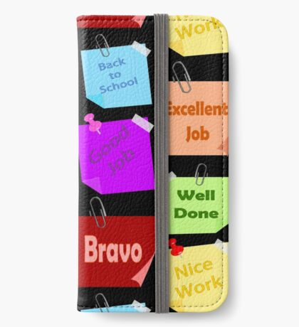 Back to school & Teachers Stickers iPhone Wallet