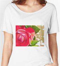 Red Rose (Digital Art) Women's Relaxed Fit T-Shirt