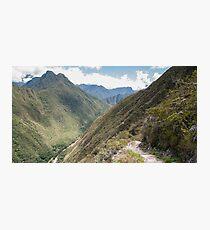 Inca trail - Sacred Valley, Peru Photographic Print