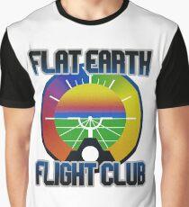 Flat Earth Designs - Flat Earth Flight Club Graphic T-Shirt