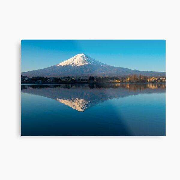 Mount Fuji Reflection Metal Print