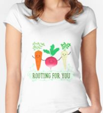 Rooting for you - Punny Garden Women's Fitted Scoop T-Shirt