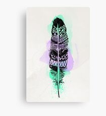 Watercolor feather AP090 Canvas Print