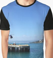Helicopter Lifting Off Graphic T-Shirt