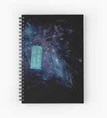 TARDIS in Space Spiral Notebook