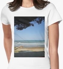Shadow Beach Womens Fitted T-Shirt