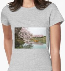 Himeji Castle Boat Womens Fitted T-Shirt