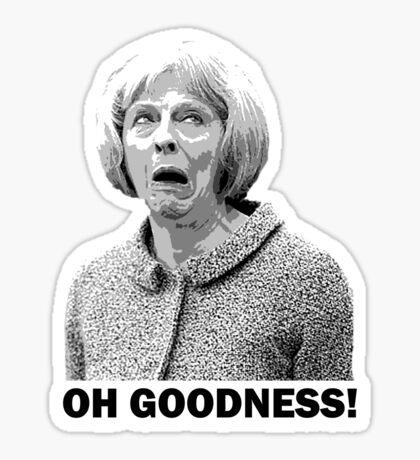 Theresa May Swearing - Oh Goodness! (Fields of Wheat) Sticker