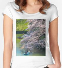 Cherry Blossom Romance Women's Fitted Scoop T-Shirt