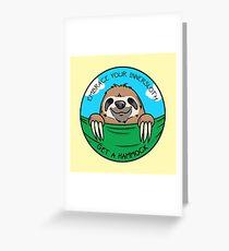 Hammock Greeting Card