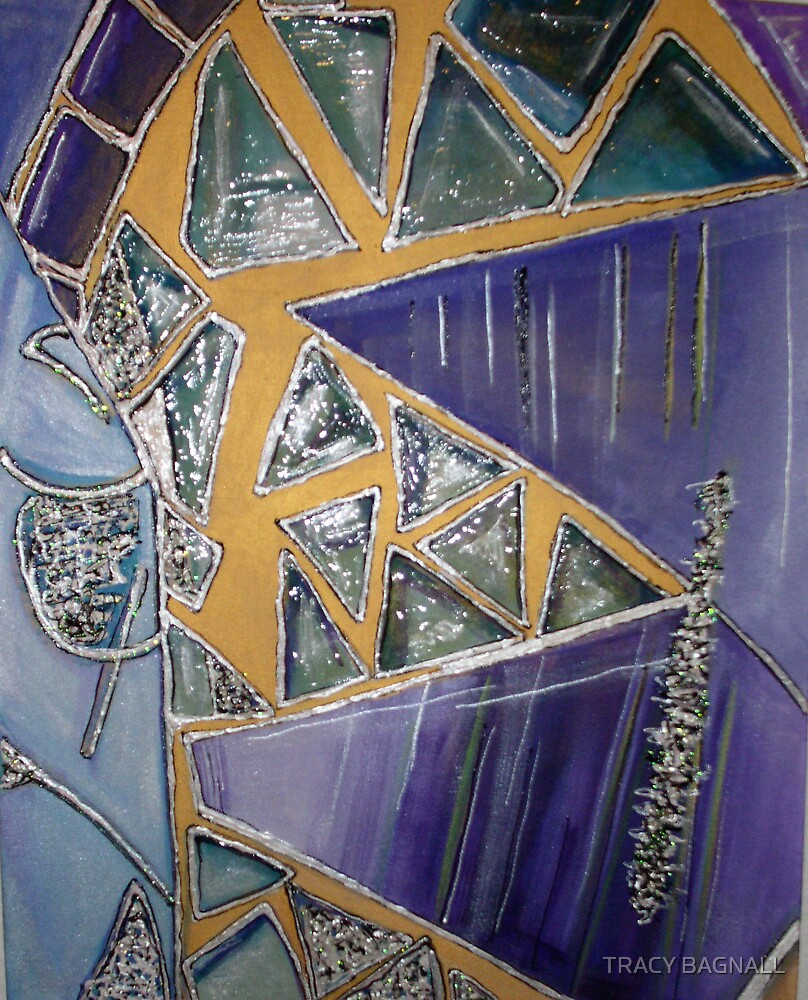abstract purple by TRACY BAGNALL