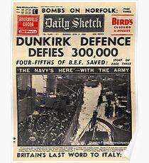 Papiernachrichten über Dunkirk Poster