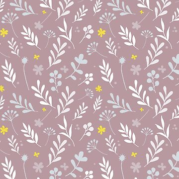 Floral Pattern 1 - Pink Background by pauladolz