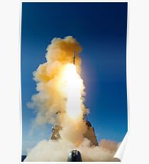 A Standard Missile-3 is launched from USS Lake Erie. Poster