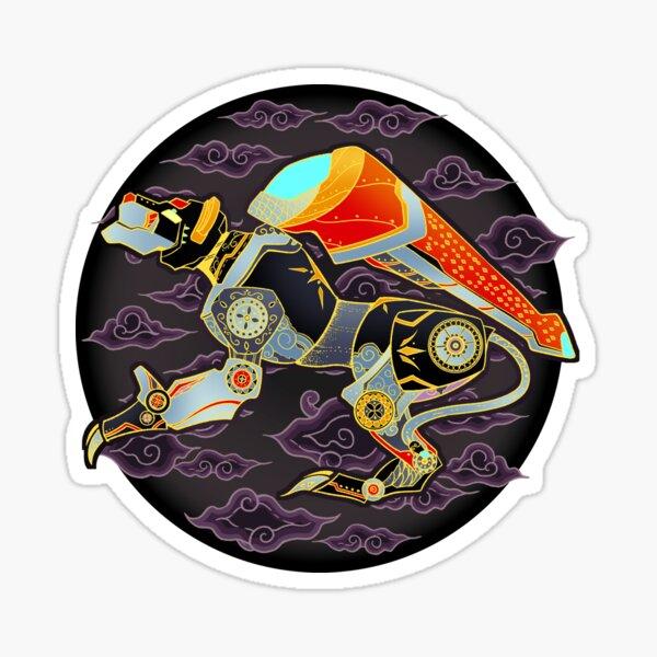 Black Lion Batik Sticker