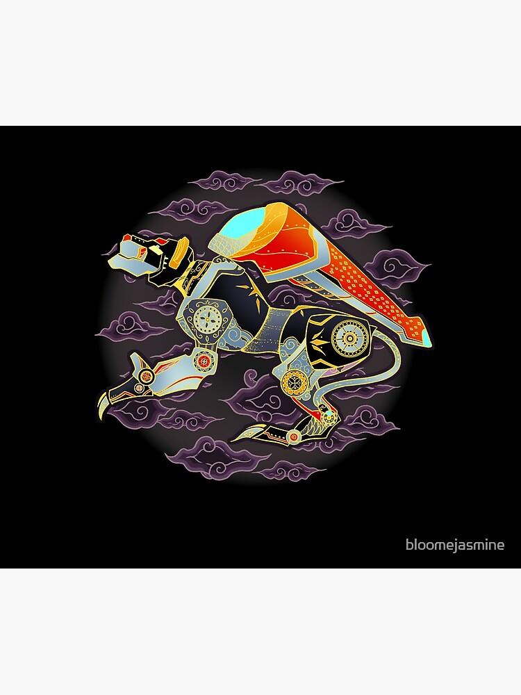 Black Lion Batik by bloomejasmine
