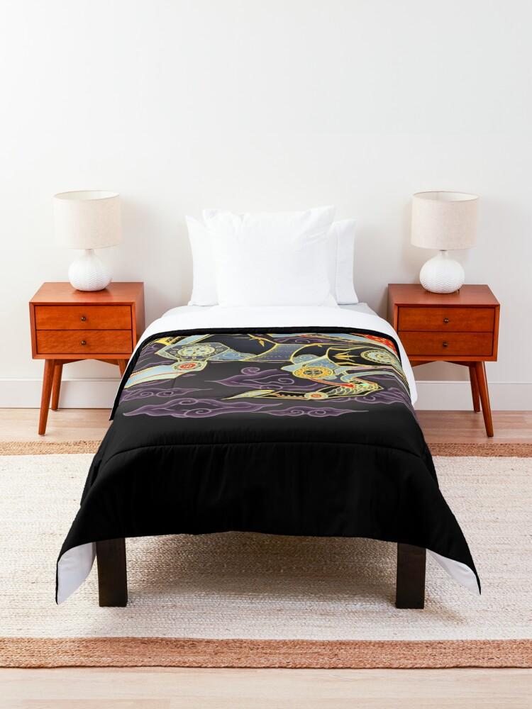 Alternate view of Black Lion Batik Comforter