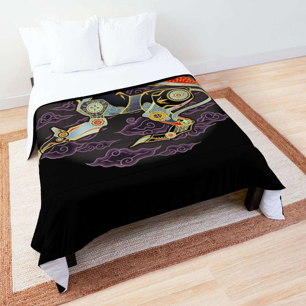 Black Lion Batik Comforter