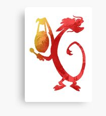 Dragon Inspired Silhouette Canvas Print