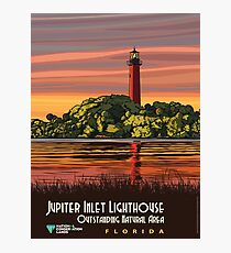 Vintage Travel Poster- Jupiter Inlet Lighthouse, Florida	 Photographic Print