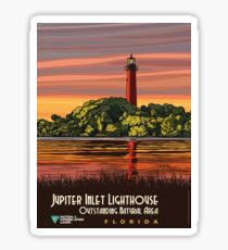 Vintage Travel Poster- Jupiter Inlet Lighthouse, Florida	 Sticker