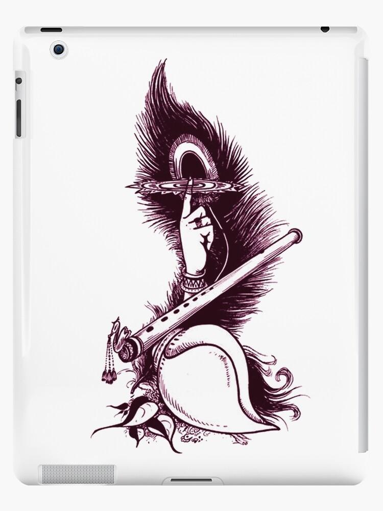 peacockfeather sudarshanchakra flute conch krishna shirt ipad