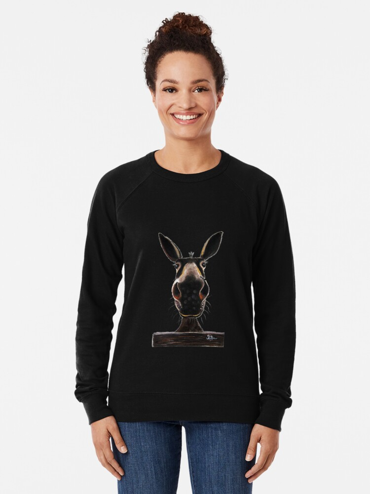 Alternate view of HAPPY DONKEY ' DEIRDRE DONKEY' BY SHIRLEY MACARTHUR Lightweight Sweatshirt