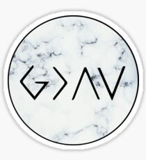 God is Greater Than the Highs and Lows - Marble Sticker