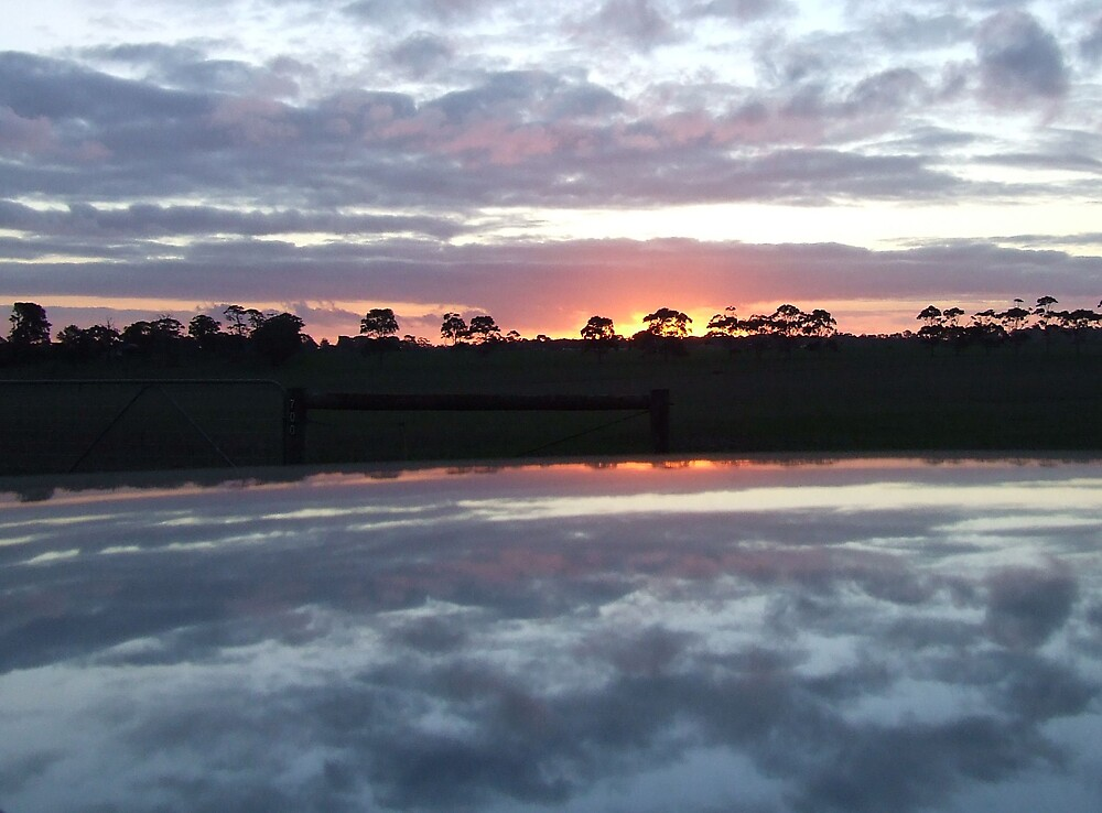 Sunset cloud reflections by SDJ1