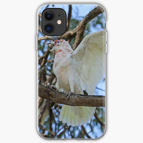 Little Corella and Long-billed Corella  (1039) iPhone Soft Case
