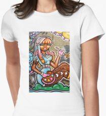 Street Art Debbie Women's Fitted T-Shirt
