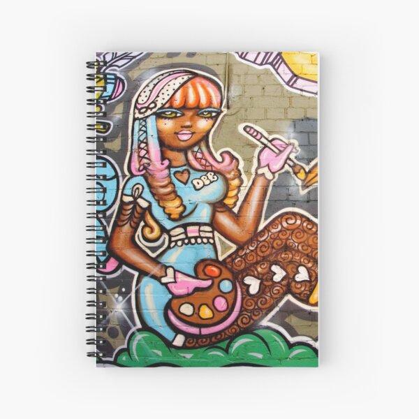 Street Art Debbie Spiral Notebook