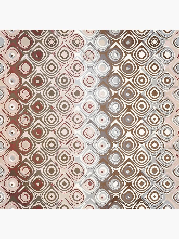Brown And Beige Pattern by perkinsdesigns