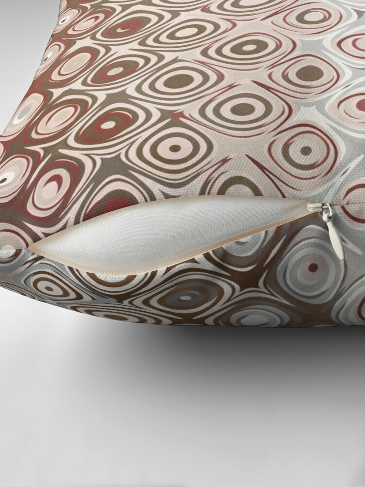 Alternate view of Brown And Beige Pattern Throw Pillow